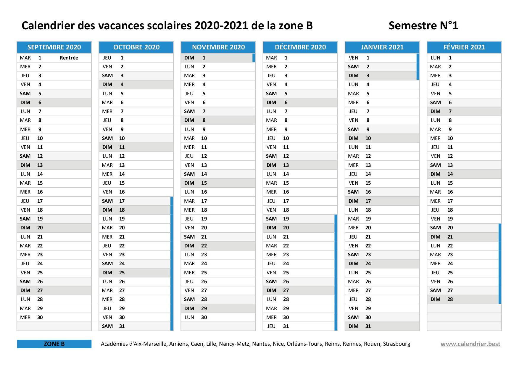 Calendrier Universitaire Lille 2021 2022 Vacances scolaires 2020 2021 Lille : dates et calendrier