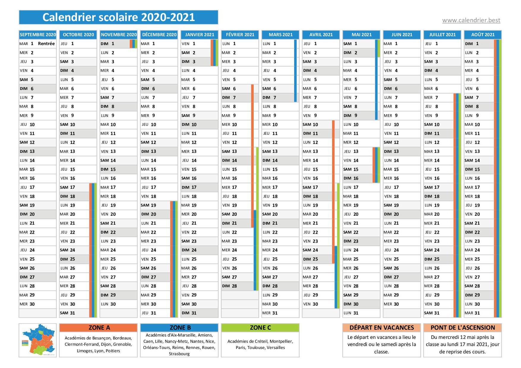 Calendrier.best : calendriers 2020 à imprimer gratuitement