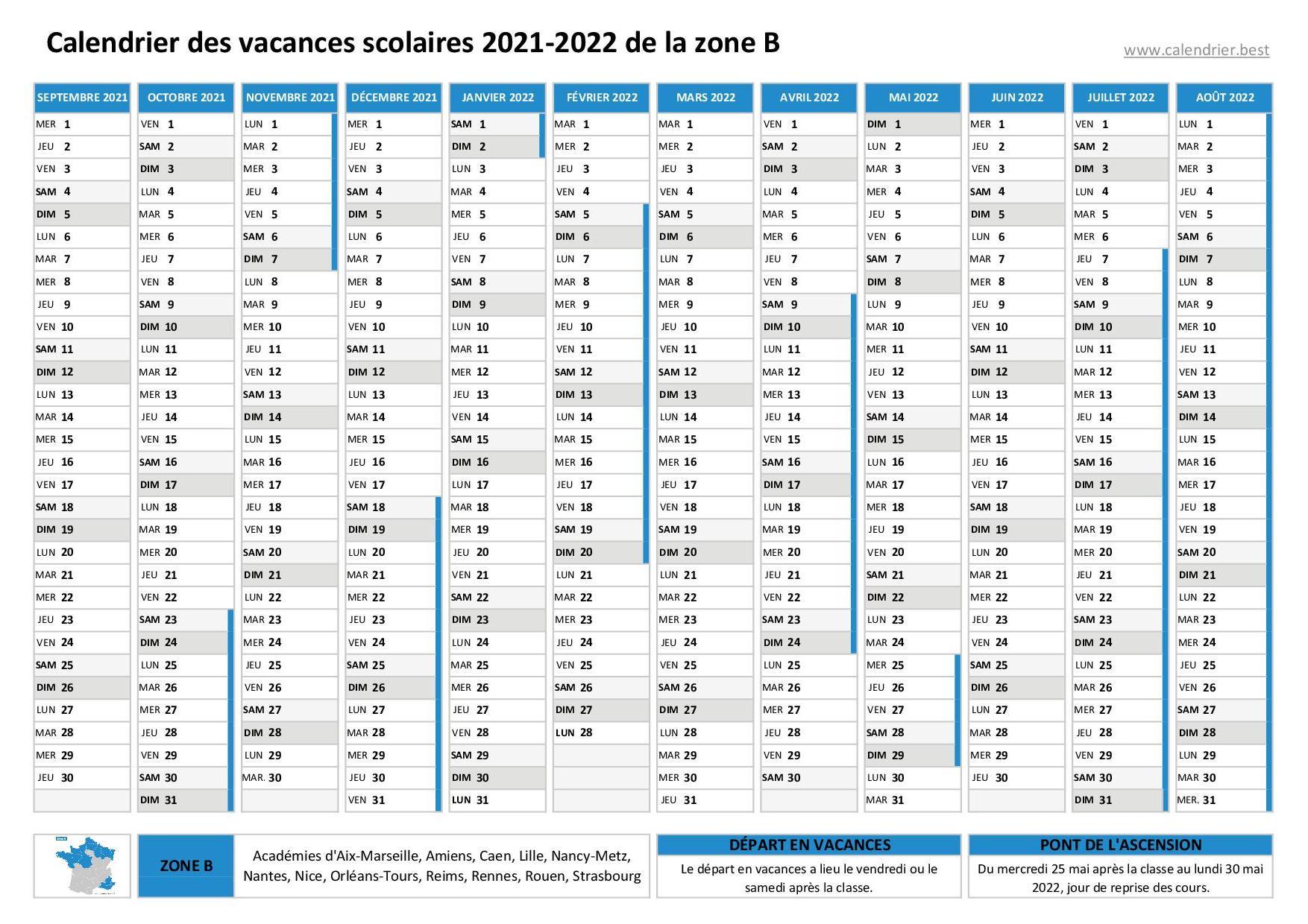 Calendrier Scolaire 2022 Lille Vacances scolaires 2020 2021 et 2021 2022 Lille : dates et calendrier