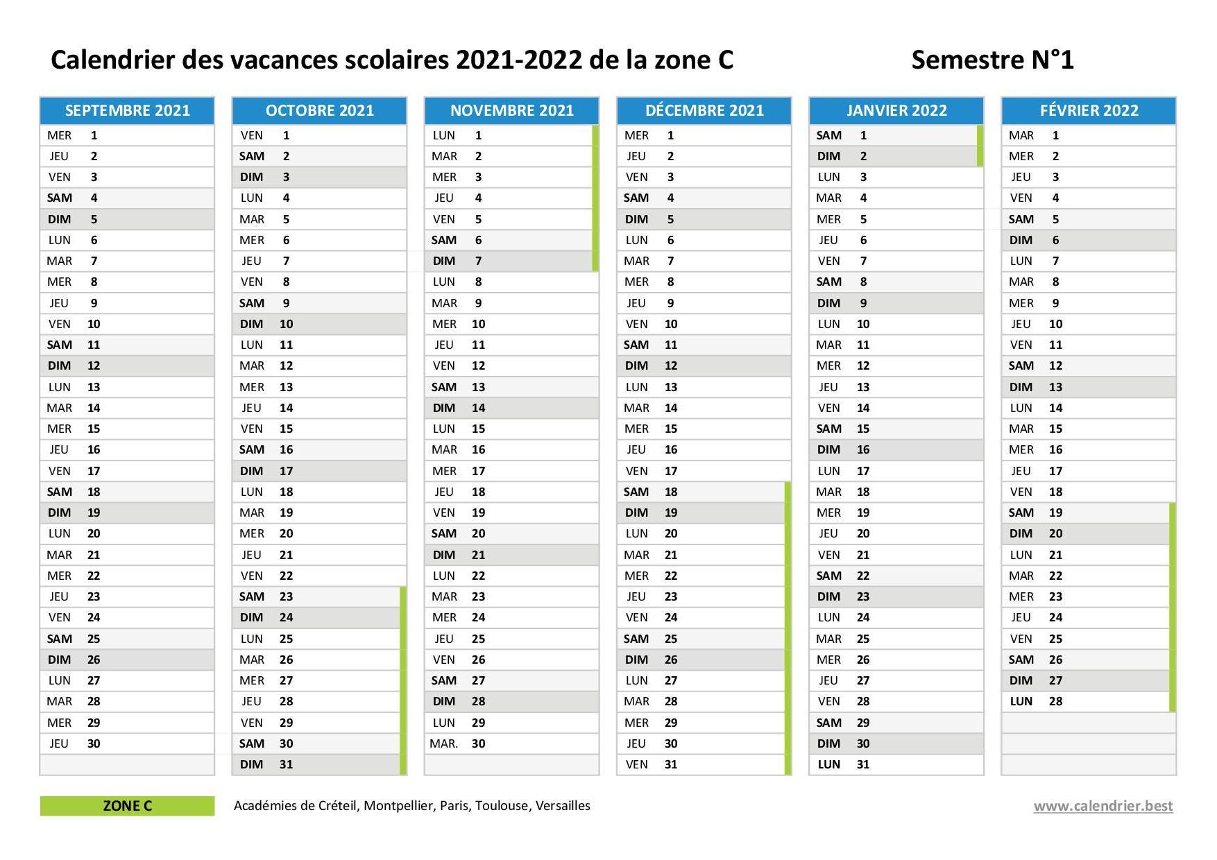 Vacances scolaires 2020 2021 et 2021 2022 Paris : dates et calendrier
